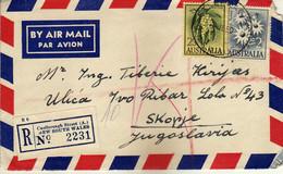 Australia AirMail Registered Letter 1960 Castlereagh Street ( A.) Via Yugoslavia,nice Stamps - Briefe U. Dokumente
