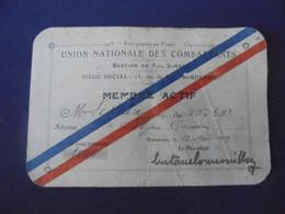 CARTE UNION NATIONALE DES COMBATTANTS 1919 J. LESTREIN - 1914-18