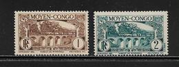 CONGO ( FRCON - 5 )  1931  N° YVERT ET TELLIER    N° 183/184   N* - Ungebraucht