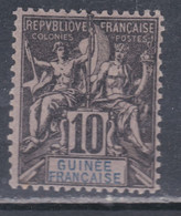 Guinée Française  N°  5 X Type Groupe : 10 C. Noir Sur Lilas Trace De Charnière, Sinon  TB - Used Stamps