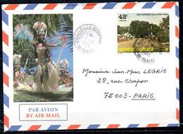 POLYNESIE. Belle Enveloppe Illustrée Ayant Circulé En 1986. - Briefe U. Dokumente