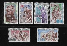 CONGO ( AFCOB - 195 )  1966  N° YVERT ET TELLIER    N° 190/195   N* - Nuevas/fijasellos
