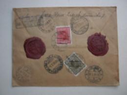 1931 , Wertbrief Nach Deutschland - Briefe U. Dokumente