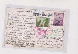 YUGOSLAVIA,1941 ZAGREB Nice Censored Airmail Postcard To Bohemia & Moravia - Brieven En Documenten