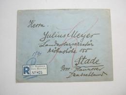 Einschreiben Nach Deutschland - Briefe U. Dokumente