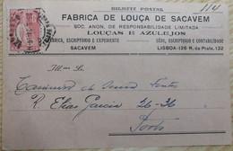 PORTUGAL PUBLICITARY CERES  - FABRICA DE LOUÇA DE SACAVÉM - Lettere