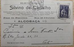 PORTUGAL PUBLICITARY CERES  - ALCOBAÇA , SILVINO DE CARVALHO - Lettere