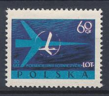 POLEN / POLAND / POLSKA  -  1959  ,  30 Jahre Fluggesellschaft LOT   -  Michel 1115  MNH / ** - Ongebruikt