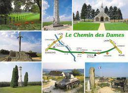 02 - Le Chemin Des Dames - Carte Géographique - Multivues - Non Classés