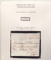 DDY 769 -  Lettre Précurseur Avec Contenu - TOURNAY 1795 Vers GAND S/ Feuille D' Album - Herlant 27 - 1794-1814 (French Period)