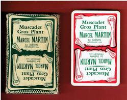 JEU 32 CARTES A JOUER PUBLICITE MUSCADET GROS PLANT MARCEL MARTIN LA SABLETTE A MOUZILLON LOIRE ATLANTIQUE - 32 Cards