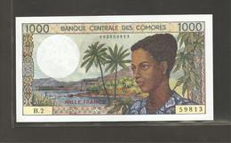 Comores, 1,000 Francs, 1976 ND Issue - Comoros