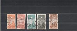 Danemark 1934 - Yvert Série PA 6 à 10 Oblitérés Poste Aérienne - Aéreo