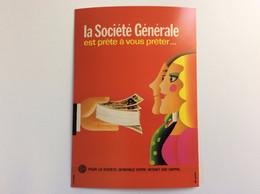 150 Ans De La Société Générale : Carte Collector - Prête à Vous Prêter... Alain Gauthier - 1970 - Bancos