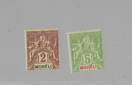 ⭐ Mohéli Y.T N°2 Et 4**, Neuf Sans Charnière ⭐ - Neufs