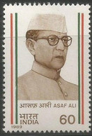 INDIA 1989 STAMP ASAF ALI (FREEDOM FIGHTER) . MNH - Neufs