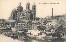 CPA 13 Bouches Du Rhône Marseille > Joliette Zone Portuaire Cathédrale De La Major Sainte-Marie-Majeure - Joliette, Port Area