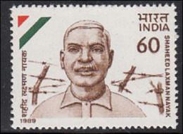 INDIA 1989 STAMP SAHEED LAXMAN NAYAK . MNH - Neufs