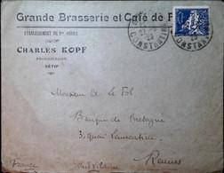 G 4 1929 Lettre Entete Brasserie Et Café à Sétif (militaire) - Lettres & Documents
