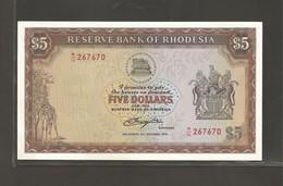 Rhodésie, 5 Dollars, 1978 Issue - Rhodesia