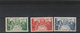 Algérie 1949 Yvert 276 à 278 Oblitérés UPU - Gebraucht
