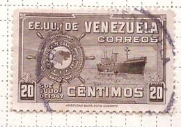 PIA - VENEZUELA -1948-50 : Creazione Della Flotta Mercantile Della Grande Colombia  -.(Yv  285) - Venezuela