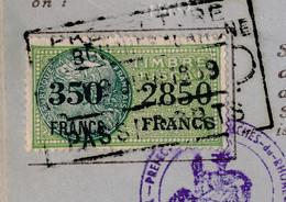 FRANCE - Timbre Fiscal Type Daussy 350F/2850F - Préfecture Des B Du R 1959 - Revenue Stamps