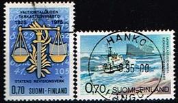 FINLANDE/Oblitérés/Used/1975 - Economie Et Sauvetage Maritime / YVT N°730,731  - MI.N°766,767 - Oblitérés