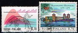 FINLANDE/Oblitérés/Used/1975 - Pharmacologie Et Château / YVT N°732,733  - MI.N°768,769 - Oblitérés