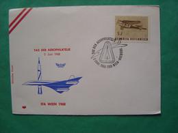 CONCORDE -- WIEN -- Tag Der Aerophilatélie - IFA Wien 1968 - Marcofilia - EMA ( Maquina De Huellas A Franquear)