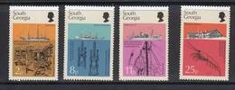 South Georgia 1976 Discovery / Marine Life 4v ** Mnh (51311H) - Georgias Del Sur (Islas)