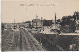 93 AULNAY-sous-BOIS  Vue Sur Les Voies Et La Gare - Aulnay Sous Bois