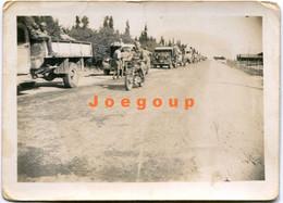 Photo Military Trucks And Motorcycle Polish Army In Palestine 1942 - Guerra, Militari