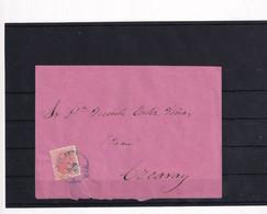 1883. Bribiesca A Ezcaray. Sobre Circulado Con Sello Alfonso XII Y Fechador Azul - Cartas