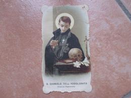 Immagine Sacra S.GABRIELE DELL'Addolorata Chierico Passionista Teschio CORNICE Sagomata Al Verso I.P.X. - Devotion Images