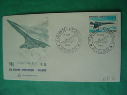 CONCORDE -- TOULOUSE -- Oblitération Du 21 Juin 1969 -- 7ème Salon De L'Aéronautique - Timbre & Flamme Concorde - Maschinenstempel (Werbestempel)