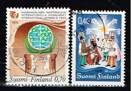 FINLANDE/Oblitérés/Used/1975 - Année De La Femme, Noel / YVT N°738,740  - MI.N°774,776 - Oblitérés