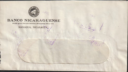Nicaragua Bank Cover From Banco Nicaraguense Posted 1969 (G125-44) - Nicaragua