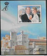MONACO 2011 - Le N° 2790 Feuillet Du Mariage Du Couple Princier Et Le Palais - 2 Juillet 2011 - 1 Timbre NEUF** P. Et. - Blocks & Kleinbögen