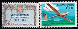 FINLANDE/Oblitérés/Used/1976 - Fondation Trésor,Vol à Voile / YVT N° 742,743 - MI.N°778,779 - Oblitérés