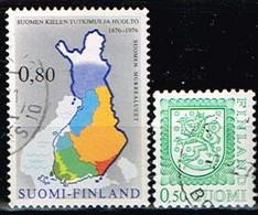 FINLANDE/Oblitérés/Used/1976 - Carte , Série Courante / YVT N° 748,749 - MI.N°784,785 - Oblitérés