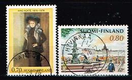 FINLANDE/Oblitérés/Used/1976 - Cantatrice ,Ville / YVT N° 752,750 - MI.N°786,788 - Oblitérés