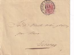 España. Carta Circulada Con Sello De Alfonso XII Y Dirigida A Ezcaray - Cartas