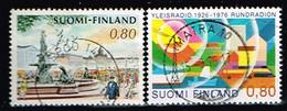 FINLANDE/Oblitérés/Used/1976 - Ville,Radio / YVT N° 750,754 - MI.N°788,789 - Oblitérés