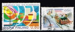 FINLANDE/Oblitérés/Used/1976 - Radio,Noêl / YVT N° 754,758 - MI.N°789,793 - Oblitérés