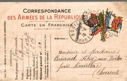 CORRESPONDANCE DES ARMEES DE LA REPUBLIQUE CARTE EN FRANCHISE - Guerra 1914-18