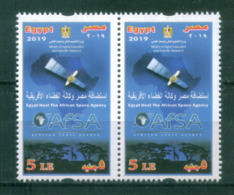 EGYPT / 2019 / AFSA / SPACE / SATELLITE / MAP / AFRICA / ANIMALS / ELEPHANT / GIRAFFE / LION / FOREST/ MNH / VF - Unused Stamps