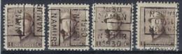 Koning Albert I Met Helm Nr. 165 Voorafgestempeld Nr. 5265 A + B + C + D  NAMUR  1930  NAMEN ; Staat Zie Scan  ! - Roulettes 1930-..