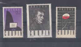 Polen Michel Cat.No. Mnh/** 1148/1150 Chopin - Unused Stamps