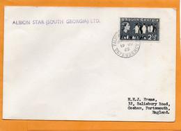 South Georgia Old Cover Mailed - Cartas